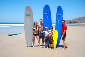 Learning to surf at Playa Grande
